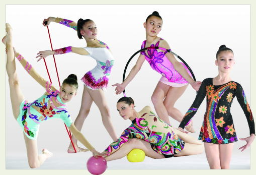 Collection 208-2009. Rhythmic gymnastics leotards, made to measure